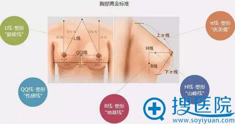 北京知音医疗美容动感假体丰胸黄金美学标准
