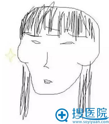 有刘海的时候,刘海的末端连接颧骨的轮廓,更加凸显颧骨
