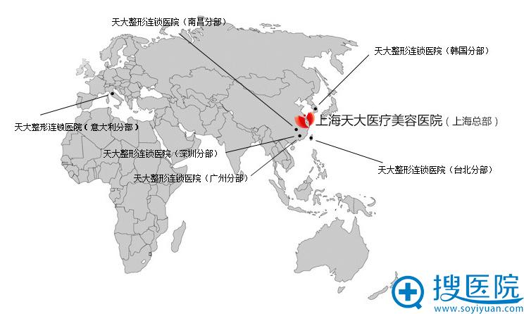 上海天大位于所有分院中心位置