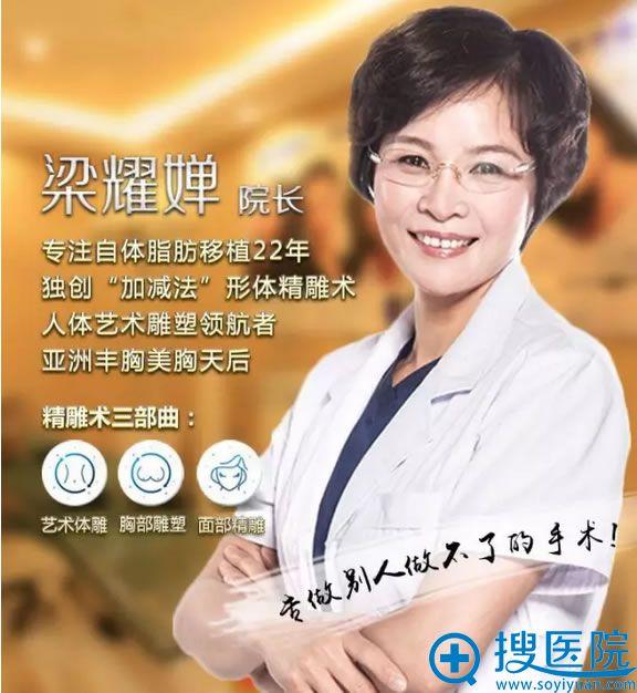 北京英煌整形医院梁耀婵院长擅长:自体脂肪丰胸、艺术体雕、臀部精雕