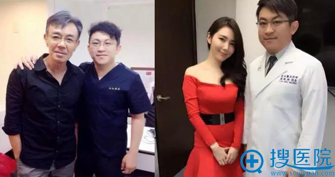 徐启翔和艺人合影