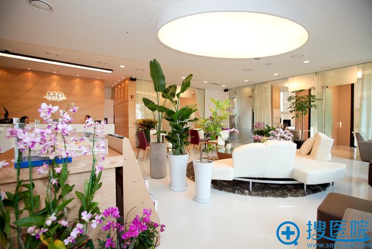 韩国MD整形医院内部大厅