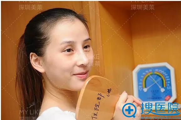 梁晓健韩式隆鼻术后10天了