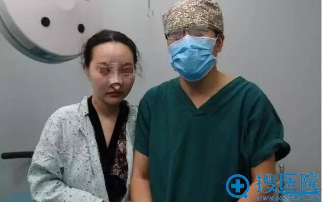 鼻综合修复术后即刻效果