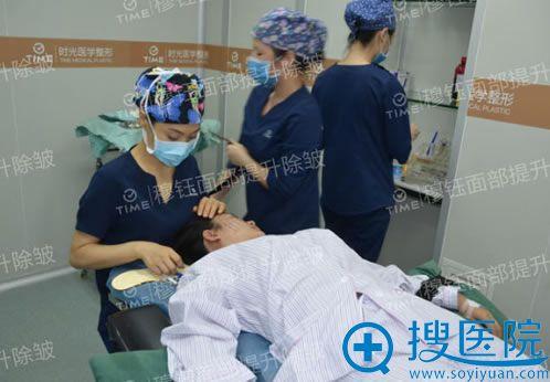 穆钰面部提升除皱手术过程