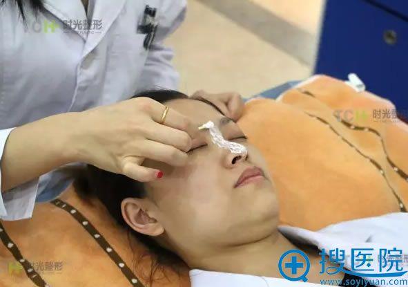 注射隆鼻术前敷麻药