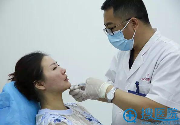天津美莱整形医院医生注射玻尿酸过程图