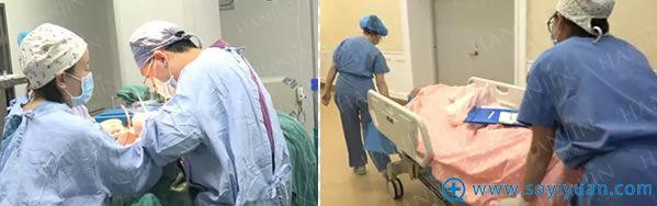 鼻整形修复手术过程后被推进VIP病房