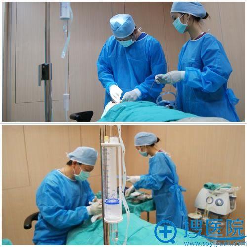 唐山紫水仙做假体隆鼻手术过程图