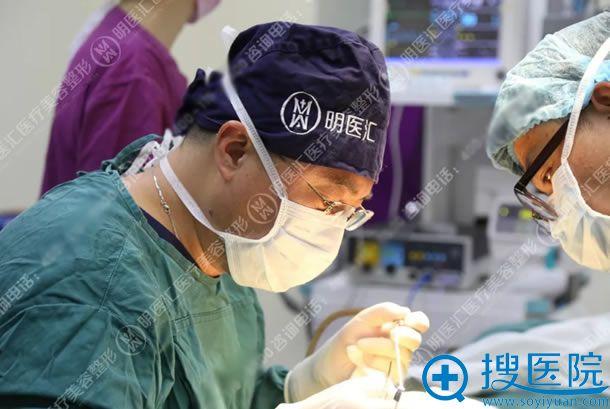 大连明医汇刘威鼻综合手术过程