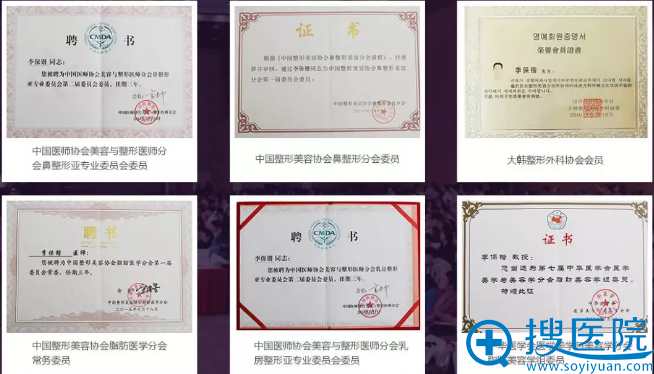 李保锴教授的资质荣誉证书
