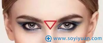 眉肩三角位置示意图