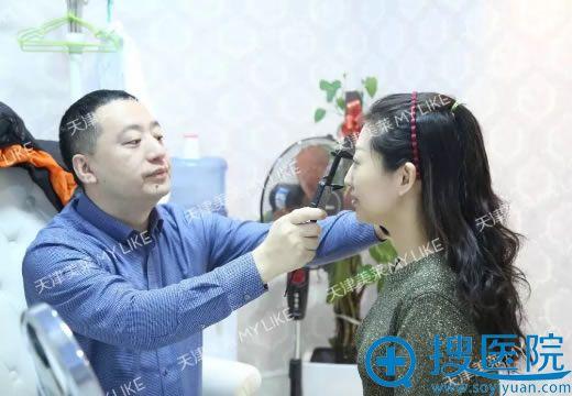 美莱李战强教授设计鼻修复手术方案