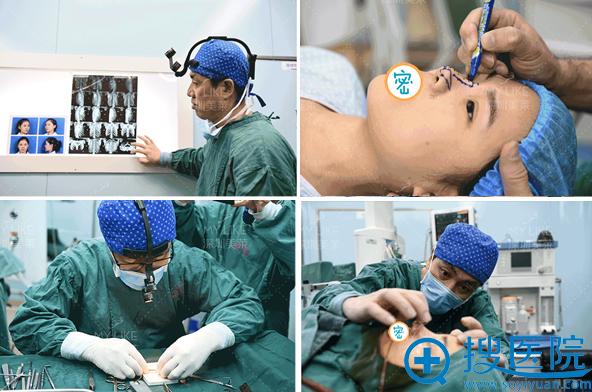 梁晓健肋软骨鼻综合手术全程