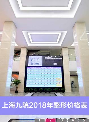 拿到一份上海九院整形科牙科和疤痕修复科2018年全新整形价目表