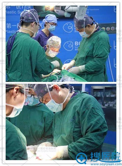 郭树忠和师俊莉为小贾进行鼻再造一期手术