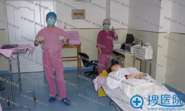 临淄区医院整形美容激光科例隆鼻手术预备中