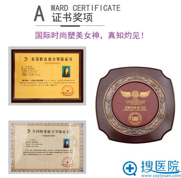 张叙所获得的证书奖项