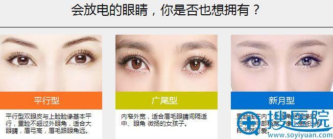 平行型、广尾型、新月形你想要哪种双眼皮?