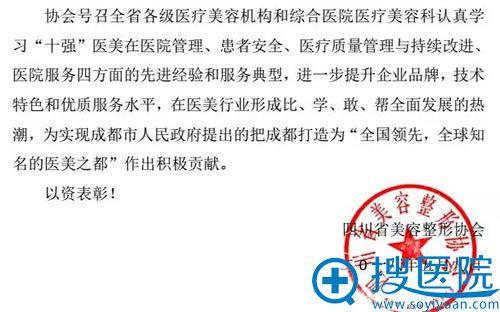 四川省美容整形协会公示文件