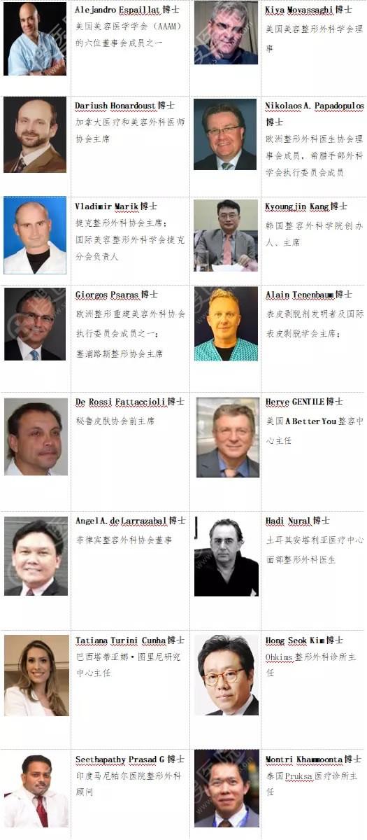 2019阿诗美国 际医美大会国外出席嘉宾