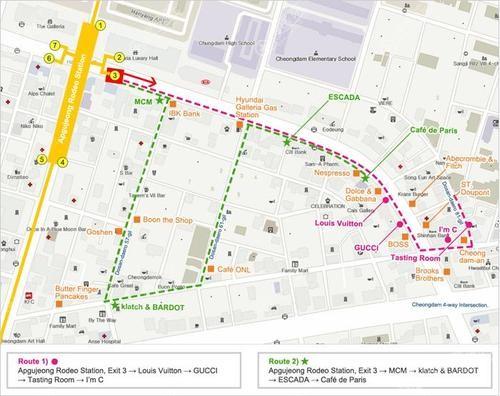 韩国整容一条街地图