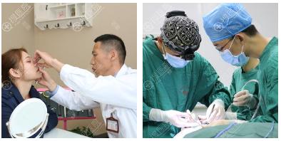 南宁东方整形龙海波隆鼻面诊和过程图